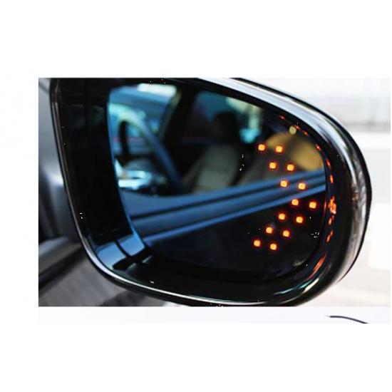 Indicator semnalizare oglinda albastru