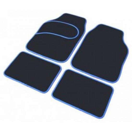 Set 4 covorase tip mocheta cu cadru albastru