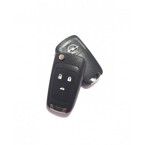 Carcasa Cheie Briceag Opel Insignia 3 butoane cu emblema metalica
