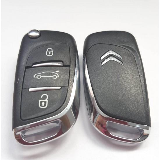 Carcasa cheie briceag Citroen 3 butoane cu emblema