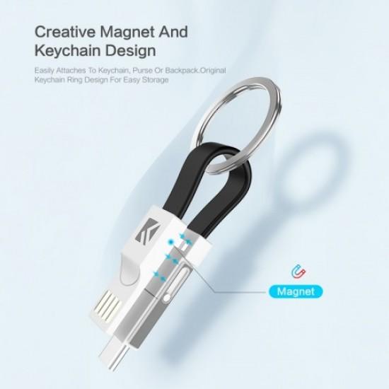Cablu breloc pentru incarcare 3 in 1 magnetic