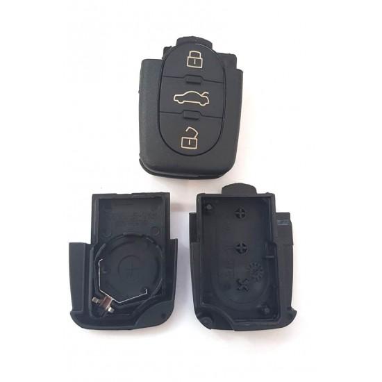 Carcasa cheie Audi 3 butoane cu locas pt baterie