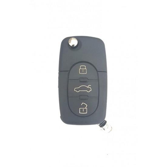 Carcasa cheie briceag Audi 3 but cu locas pt baterie 1616