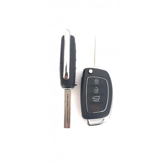 Carcasa cheie briceag Hyundai 4 butoane