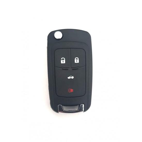 Carcasa cheie briceag Chevrolet 3+1 buton panica
