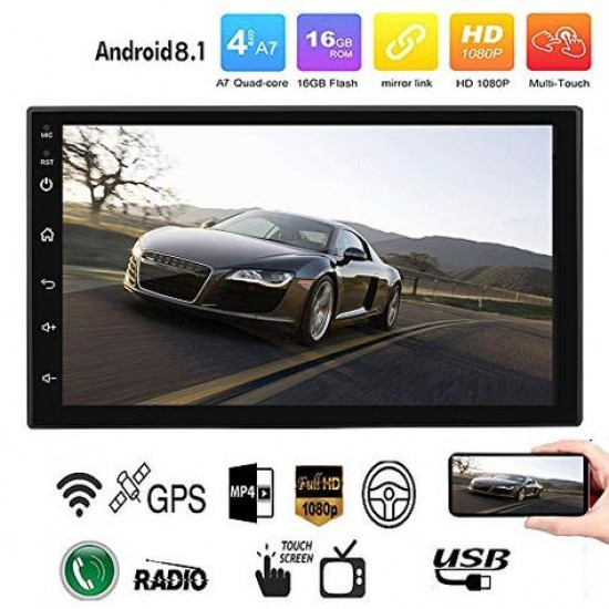 MP5 auto 2DIN touchscreen Android/WiFi/BT/GPS+camera