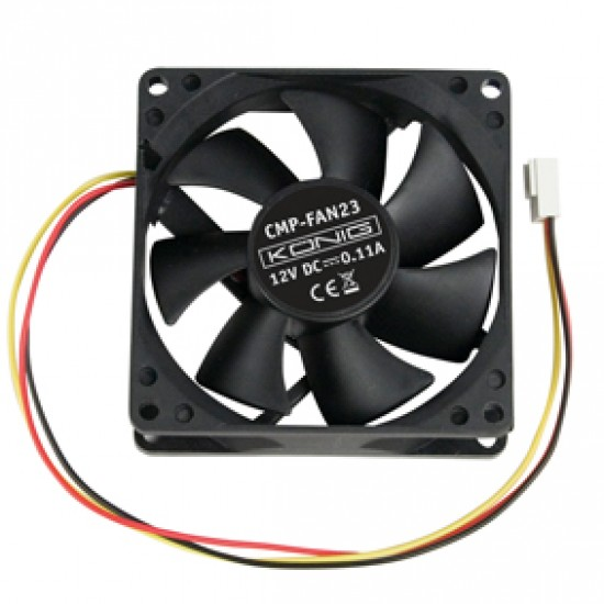 Ventilator senzor 12V 80x80x25mm CMP-FAN23