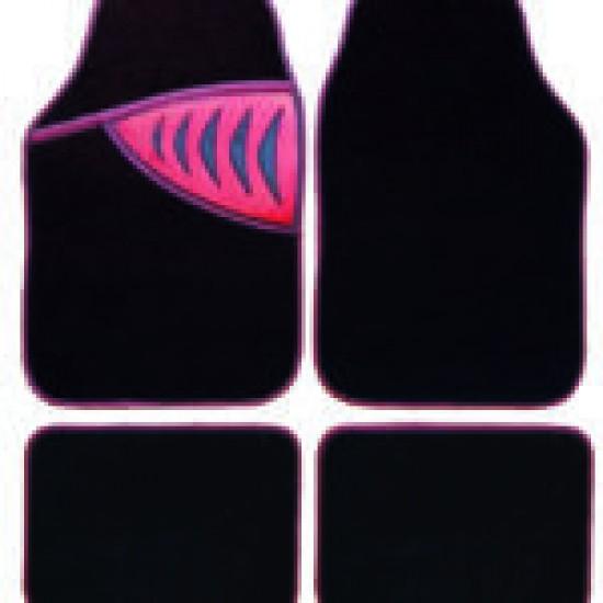 Set 4 covorase tip mocheta cu model rosu