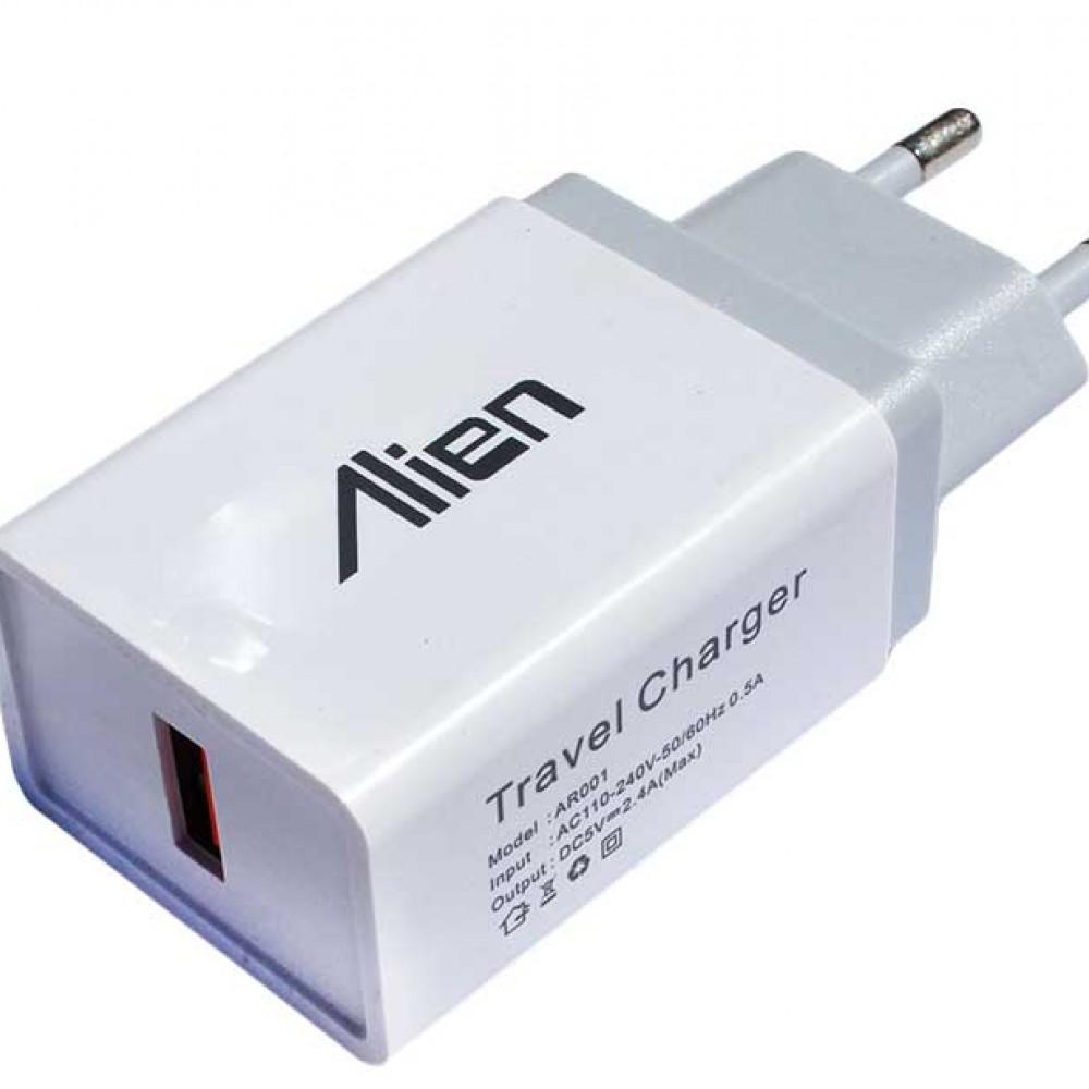 Incarcator retea USB 2A alb