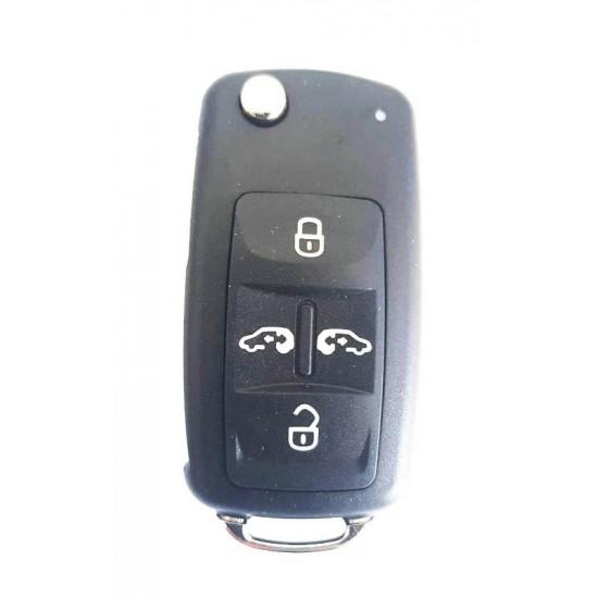 Carcasa cheie briceag VW 4 butoane cu bolt