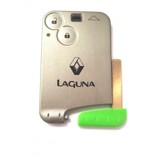 Carcasa Cartela Renault Laguna 2 butoane cu lamela