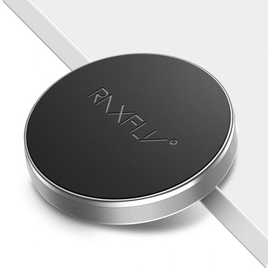 Suport magnetic adeziv negru pentru telefon