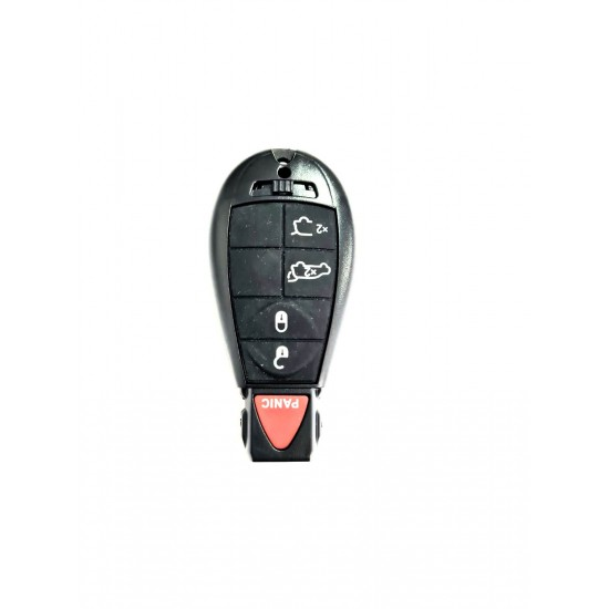 Carcasa cheie Chrysler 4+1 buton panica rosu