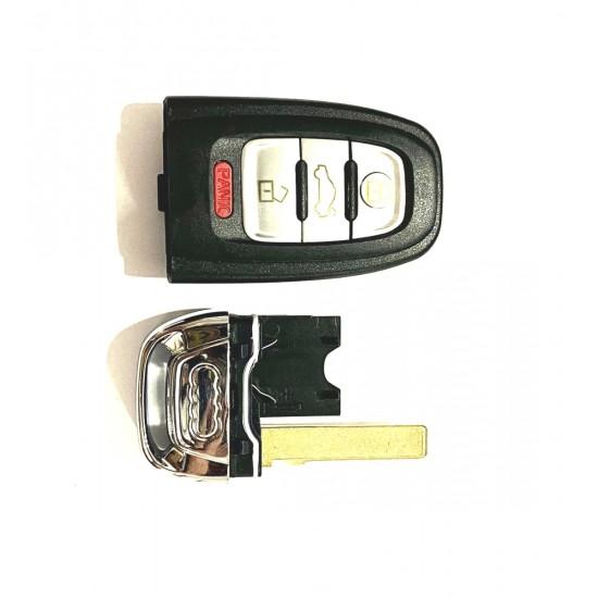 Carcasa cheie Audi 3+1buton panica si locas pt baterie