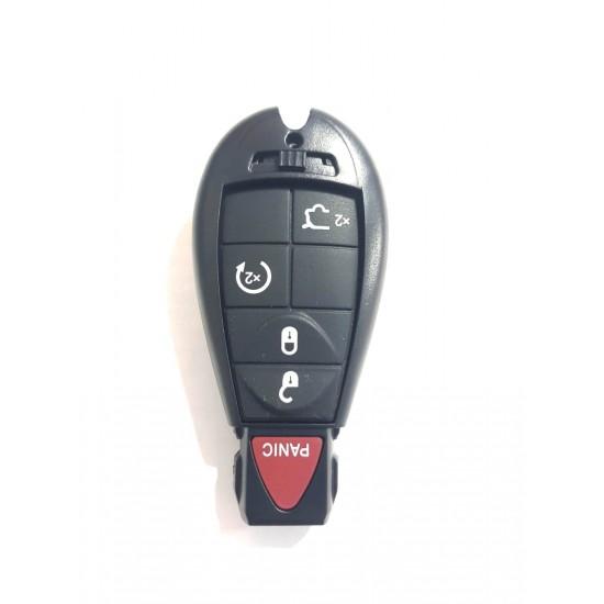 Carcasa cheie Chrysler 4 but +1 buton panica rosu