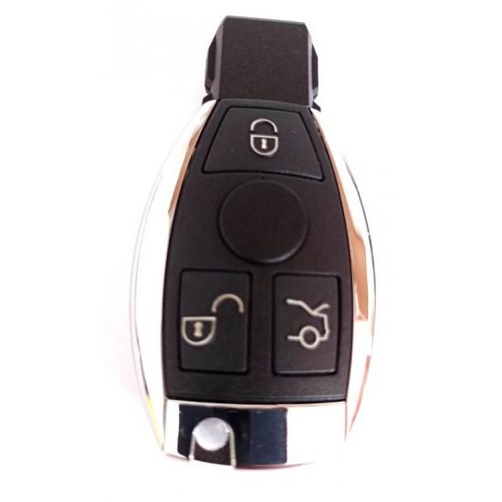 Carcasa cheie Mercedes 3 but cu locas pt 2 baterii