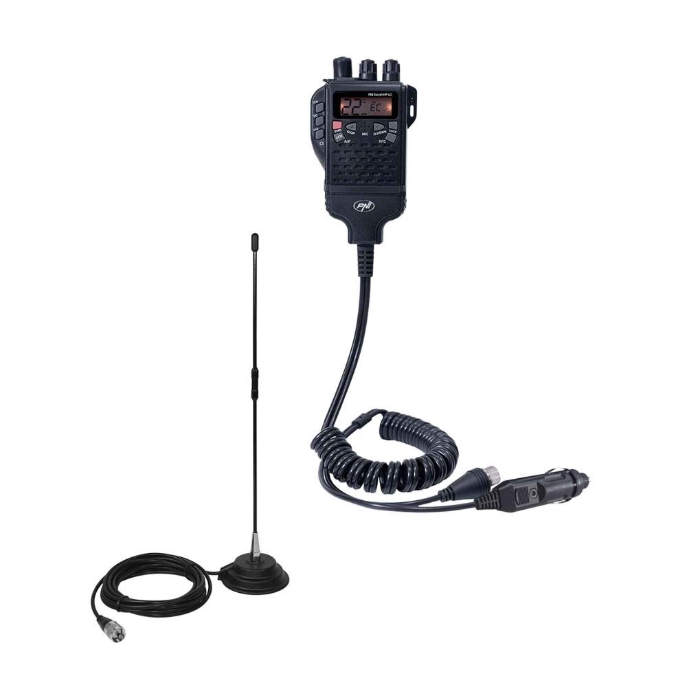 Kit Statie radio CB PNI Escort HP 62 si Antena PNI Extra 40 cu magnet inclus