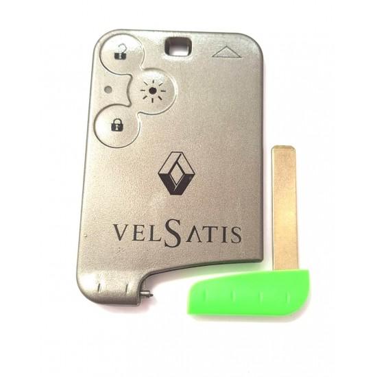 Carcasa cartela Renault Velsatis 3 butoane cu lamela