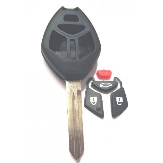 Carcasa cheie Mitsubishi 3+1 buton de panica